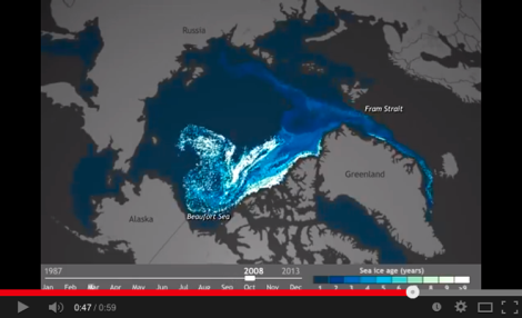arctic ice retreat time lapse